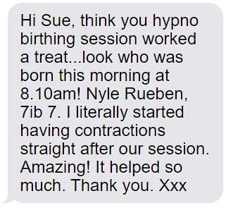 feedback for hypno birthing